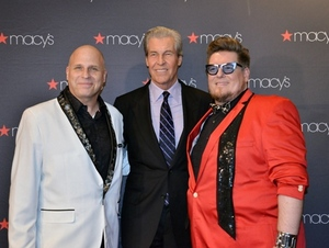 Glam producer Mike Gansmoe, Terry Lundgren and Glam creative director Paul Anthony