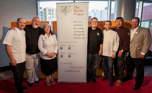 Chefs Tentori, Smith, Nahabedian, Cantu, Merges, Bill Kim and Sommelier Robert Houde