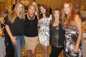 With Julie Cialini (PMOY 1994), Liz Glazowski (April 1980), Lorraine Michaels (April 1981) and Charlotte Kemp (Dec. '82)
