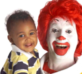 Ronald McDonald and young friend.
