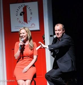 Sarah Jindra onstage w/ TJ Shanoff
