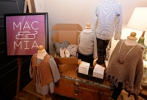 Mac & Mia clothing display
