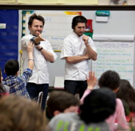 Chefs Jason Hammel and Ryan Poli at Pilot Light CPS program
