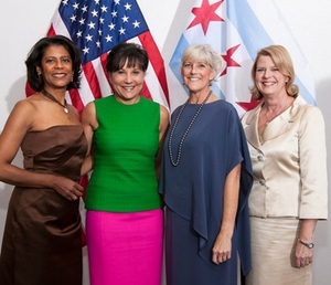 Dona Scott; Penny Pritzker; Kim White; and Melissa Bean