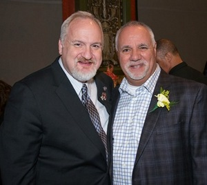 Chef Art Smith and Gift Theatre Board Chairman George Karzas