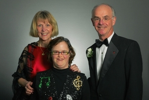 Honorees Peggy, Molly and Bob Bourke