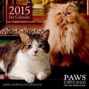 PAWS 2015 pet calendar
