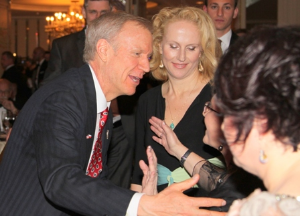 Governor Rauner meets the guests.