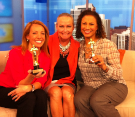 With Melissa Forman and Jeanne Sparrow talking Oscar parties