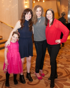 Sawyer Aaron, co-chair Joanna Aaron, Katie Schwartz and Sheri Whitko
