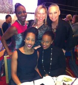 (Front row, L to R) Lakesha Rose and Tarrah Cooper, (2nd row) honoree Rochelle Trotter, Jammie Gold.
