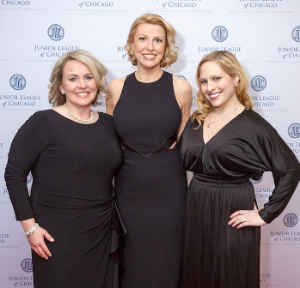 Ann Brinkman Carstensen (JLC Pres), Christine Kudia (Development Council VP), Alexandra Demers (Mktg Chair)
