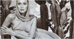 Model Karen Graham in Victor's Estee Lauder ad campaign (one of my favs!)