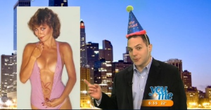 Chris DeRose in his Happy Birthday Chicago segment on WCIU