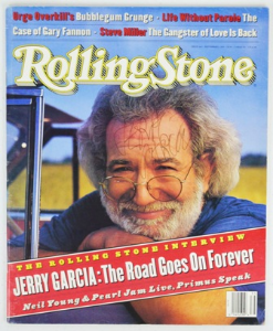 Jerry Garcia signed Rolling Stone cover