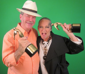 With Watch312 founder Bob Mills holding our first Telly Award for my show