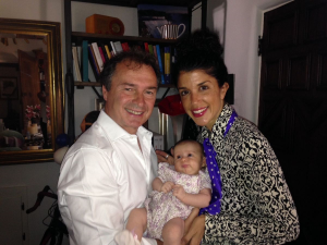 Jerry Kleiner and Marisa Molinaro Kleiner with baby Capri