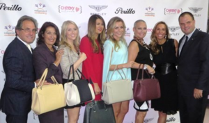 "Joe Perillo and his Bentley ""bag ladies""!"