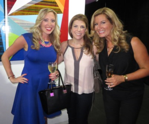 Wine Channel TV's Jess Altieri, a friend and 24/7's Catie Keogh