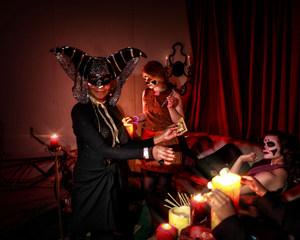 Costumed guests