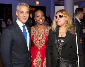 Mayor Emanuel, Rochelle Trotter and Chef Laura Martinez