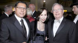 "Helen Melchior with Joes ""Pepe"" Conforme and Ken Norgan"