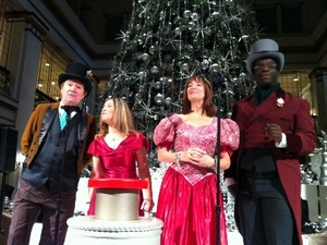 Carolers kicked off the afternoon.