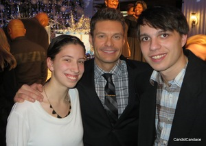 Illinois Center for Broadcasting students w/ Seacrest (Ashley Krause and Matt Natale)