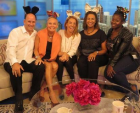 Having fun at WCIU with Executive Producer Rob Morhaim, hosts Melissa Forman and Jeanne Sparrow and Floor Manager Nika Clark.
