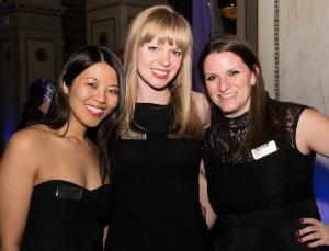 Elena Samokhina (center) with friends.