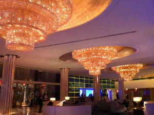 Dramatic Fontainebleau lobby after a 1 billion reno.