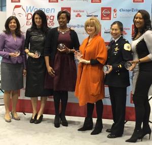 WDE 2015 honorees Anita Alvarez, Debi Lilly, Dr. Suzet McKinney, Janet Davies, Lucy Moy-Bartosik and Dorri McWhorter