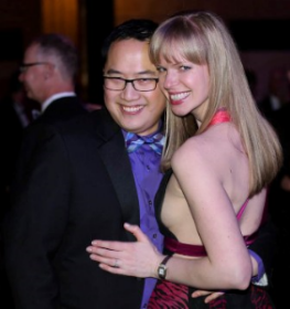 Peter Kuo and his fiance Elena Samokhina
