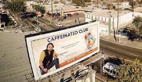 Brett Connors' Caffeinated Club billboard in LA!