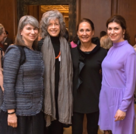 Jill Hirsch, Martha Lavey, Laurie Metcalf and Lizzy Scheinfeld