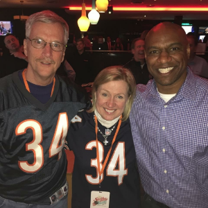 George and Barb McCaskey with Jarrett Payton