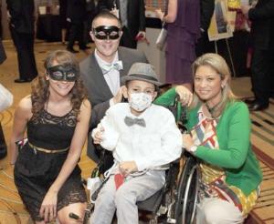 Christina Thomas, Jared and Liz Herrick with Max at a Big Mac Under Glass event