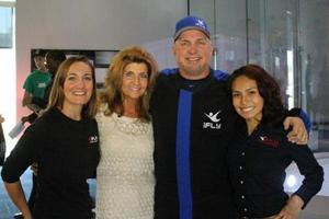 iFLY's Rosemont GM Hilary Bruce, Sale Dir. Michelle Lobell, Garth and Event Coordinator Nedi Crisol