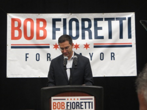 """Alderman Scott Waguespack introduced Nick as the """"Future First Lady of Chicago"""""""
