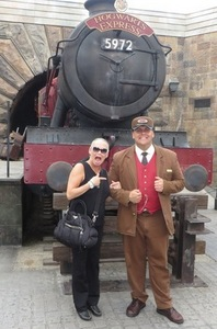 With Hogwart's Express conductor