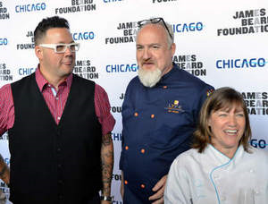 Chefs Graham Elliot, Art Smith and Gale Gand