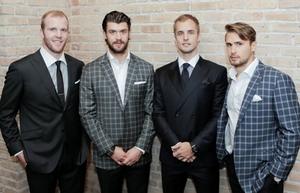 Bryan Bickell, Brent Seabrook, Niklas Hjalmarsson, Marcus Kruger
