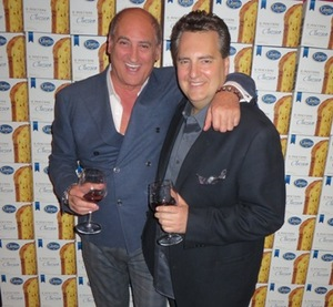 Birthday boy Bruno Abate with longtime friend Roe Conn
