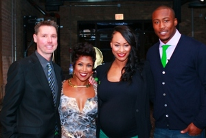 Mark Ishaug, Val Warner, Michi and Brandon Marshall
