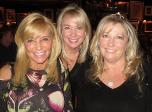 Birthday girls Jan Flanagan (L) and Michaela Parrillo (R) with Gayle Anthony.