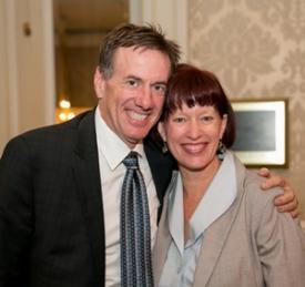 Leo Smith and Senator Heather Steans