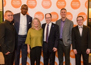 Artistic Director Chay Yew, Brandon Marshall, Marcelle McVay, Board President Steve Miller, Mike Evans and Managing Director Chris Mannelli
