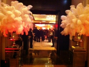 Entrance to the party at Avenues Ballroom/Peninsula