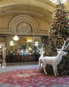 Hotel de Paris' festive lobby