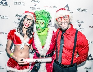 Keisha Keywest and Nick Bravo with the Grinch herself, Lora Michael